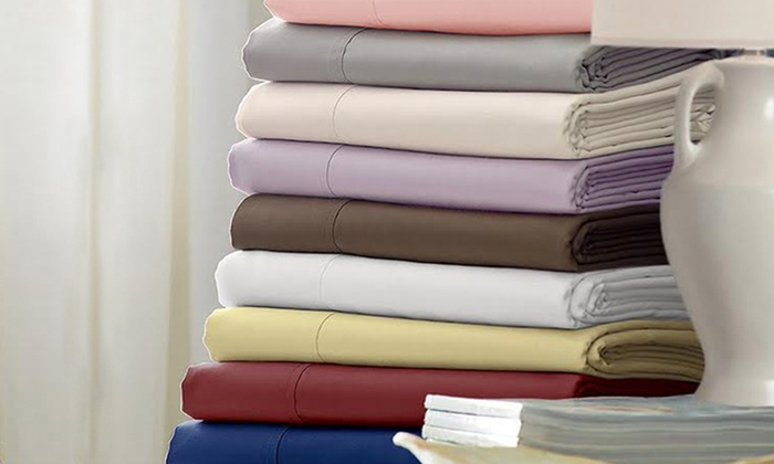 Hotel Grand 1,000TC Cotton-Blend Sheet Sets: Hotel Grand 1,000TC Cotton-Blend Sheet Sets from $49.99–$69.99