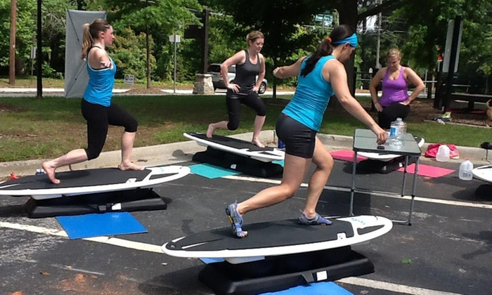 Get On Board ATL - Atlanta: One or Four 45-Minute SurfSET Fitness Classes at Get On Board ATL (Up to 56% Off)