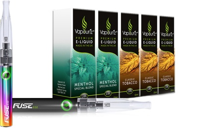 Vapouriz Fuse ECigarette Starter Kit with 5, 10 or 20 ELiquids from £19.99 With Free Delivery