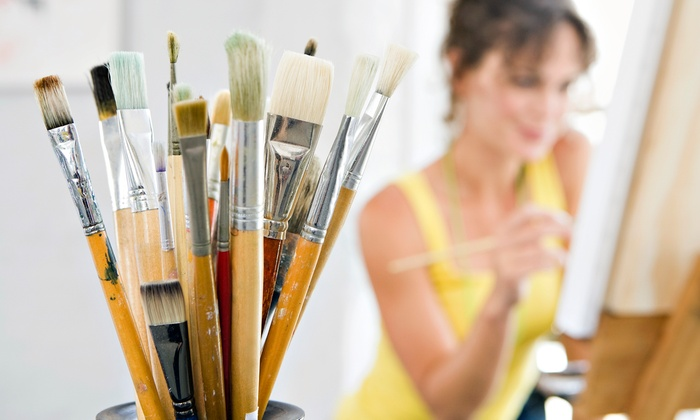 Paint and Palate - Multiple Locations: Painting Event for One, Two, or Four from Paint and Palate (Up to 58% Off)