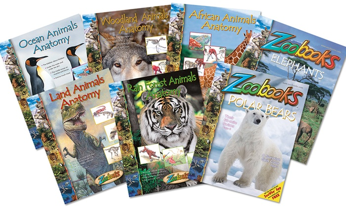 """Zoobooks: $20 for a Seven-Book """"Animal Anatomy"""" Book Set with Poster and Wildlife Stickers from Zoobooks ($60 Value)"""