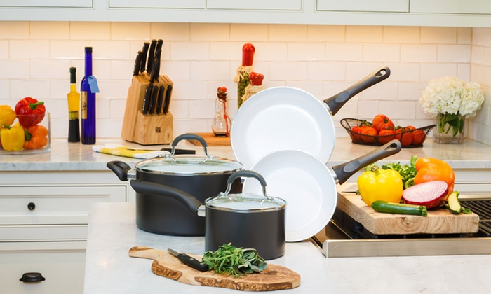 6-Piece Cookware Set: 6-Piece Supreme Ceramic World-Class Cookware Set in Gray. Free Shipping and Returns.