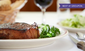 The Wild Mushroom Steak House and Lounge: Steakhouse Cuisine for Two or Four at The Wild Mushroom Steak House & Lounge (Up to 44% Off)