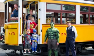 The Shore Line Trolley Museum: Super Hero's Saturday on July 25 for Two or Four at The Shore Line Trolley Museum (Up to 40%Off)