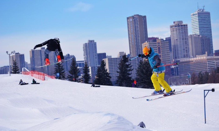 Edmonton Ski Club - South Central Edmonton: One-Day Pass with Optional Rentals or Private Lesson at at Edmonton Ski Club (Up to 50% Off)