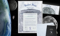 Mondgrundstück als humorvolles Geschenk, optional mit Mondpass, vom Mondland Verlag (bis zu 58% sparen*)
