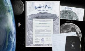 Mondland Verlag: Mondgrundstück als humorvolles Geschenk, optional mit Mondpass, vom Mondland Verlag (bis zu 58% sparen*)
