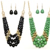 Beaded Necklace and Earrings Fashion Jewelry Set