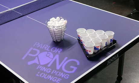 Food, Drinks, and Ping Pong for Two or Four at Parlor Kitchen (65% Off) 2127fdd3-253d-49db-9d2e-348d749962f7