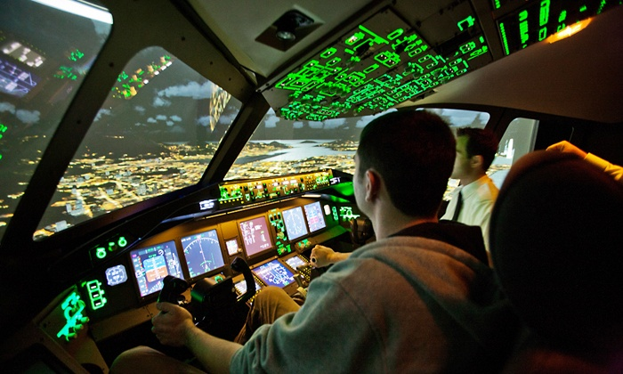 60 oder 120 Min. im Flugsimulator die Boeing 777 selbst fliegen mit 777 Simulatorfliegen (bis zu 50% sparen*)