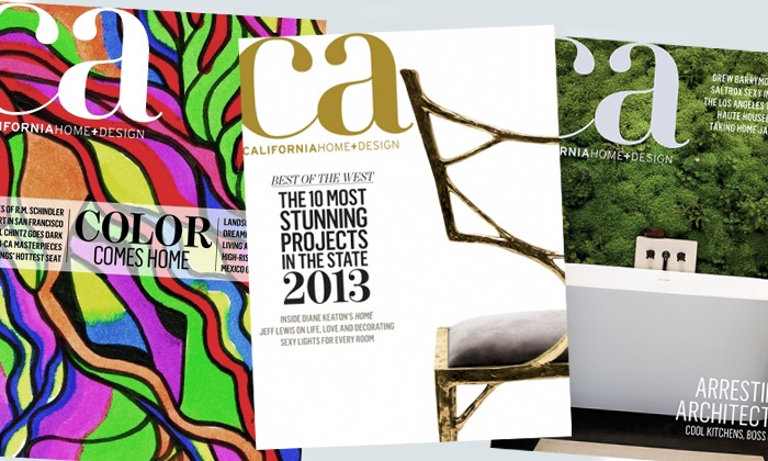 "<i>California Home+Design</i> - Santa Cruz / Monterey: $7 for a One-Year Subscription to ""California Home+Design"" Magazine and E-Newsletter ($15 Value)"