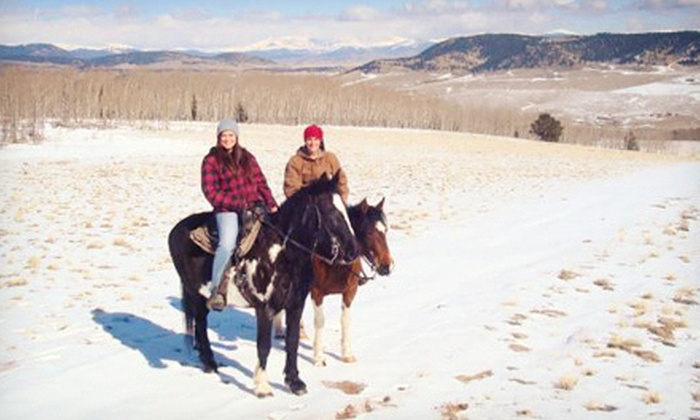 American Safari Ranch - Fairplay: Two-Hour Open-Range Horseback Ride with Hot Chocolate for Two or Four at American Safari Ranch (Half Off)