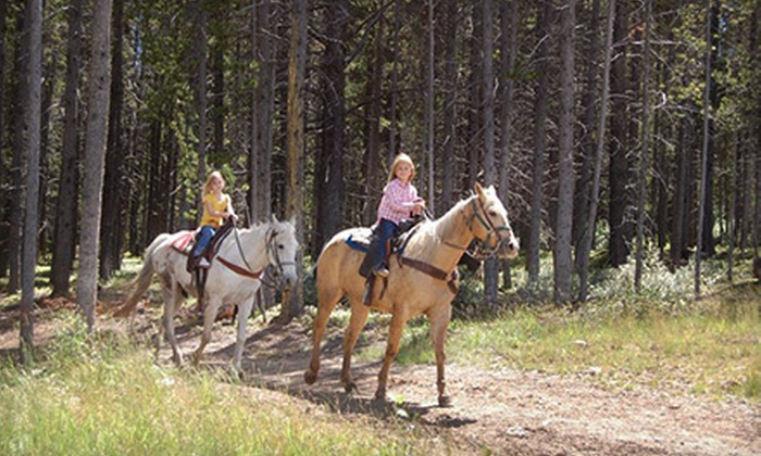 Breckenridge Stables - Breckenridge: Scenic Trail Ride for Two or Four at Breckenridge Stables (Up to 55% Off)