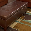 $99.99 for a Leather Storage Ottoman