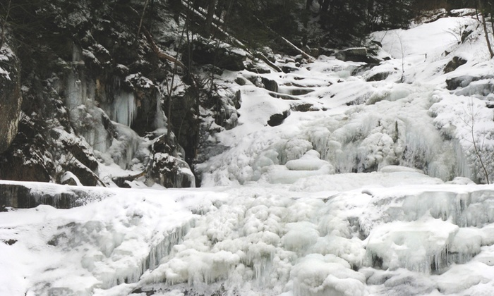 Destination Backcountry Adventures - Multiple Locations: Frozen Waterfalls Hiking Tour for Two or Four from Destination Backcountry Adventures (40% Off)