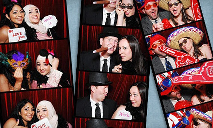 Smoochbooth - Goose Island: Photo-Booth Rental from Smoochbooth (Up to 64% Off). Four Options Available.