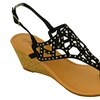 Twisted Riley Wedge Sandals (Size 8.5)
