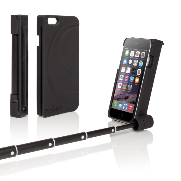 new product 12f68 cd915 2-in-1 Selfie Stick Phone Case with Bluetooth for iPhone 6/6s & Samsung  Galaxy S5/S6