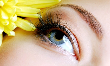 Full Set of Eyelash Extensions with Optional Fill from Amelia Main at A Salon 7 (Up to 50% Off)