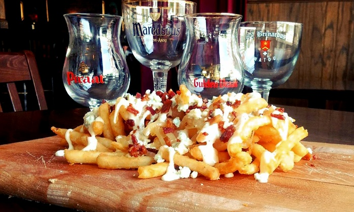 Cheeky Monk Belgian Beer Cafe - Capitol Hill: American/Belgian Cuisine and Drinks at Cheeky Monk Belgian Beer Cafe (Up to 47% Off). Four Options Available.