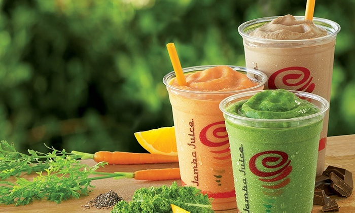 Jamba Juice - Multiple Locations: Three or Five Groupons, Each Good for One Medium Size Smoothie at Jamba Juice (47% Off)