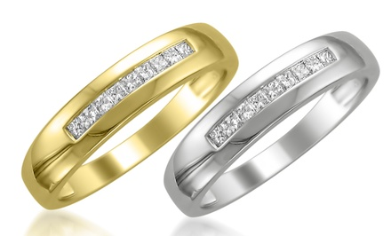 1/4 CTTW Men's Diamond Bands in 14K Gold