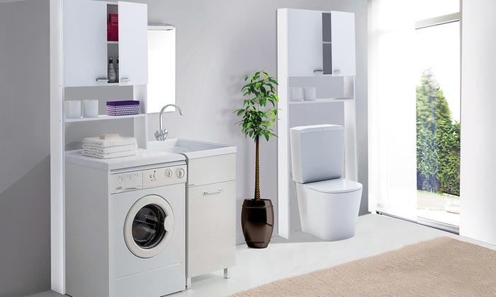 Mobiletto da bagno per lavatrice groupon goods - Mobile lavatrice ikea ...