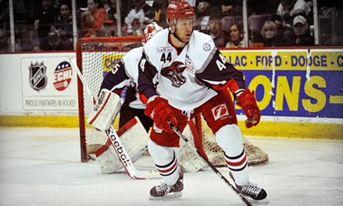 Elmira Jackals - Elmira: $18 for an Elmira Jackals Hockey Game for Two at First Arena on January 27, February 6, or February 10 ($36 Value)