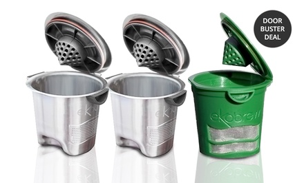 Ekobrew or Brew & Save Single-Serve Reusable Coffee Filters now $15.99 ($30 value)