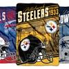 NFL Oversized Micro Raschel Throw Blanket
