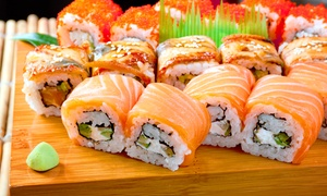 Kisoro Sushi: Japanese Cuisine and Beer or Hot Sake at Kisoro Sushi (Up to 57% Off). Two Options Available.