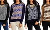 Women's Abstract-Printed Sweaters