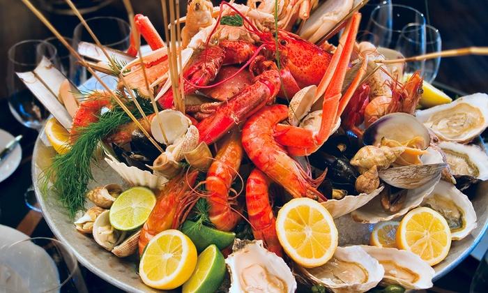 Plateau de fruits de mer chez luna 20 me groupon - Decoration plateau fruit de mer ...