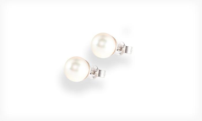 Akoya-Pearl Stud Earrings: Akoya-Pearl Stud Earrings (Up to 89% Off). Multiple Sizes Available.
