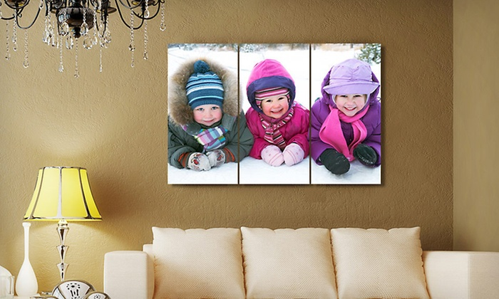 Custom Triptych Canvases: Custom Gallery-Wrapped Triptych Canvases From Gallery Direct (Up to 86% Off). Two Options Available. Free Shipping.