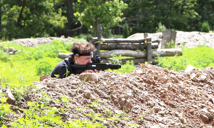Blue Mountain Resort - Palmerton: Xtreme Outdoor Laser Tag for up to 6, 8, or 12 People at Blue Mountain Resort (50% Off)