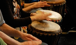 Fremont Drum Shop: One Month of Beginners' Hand-Drum Classes with Optional Instructional DVD at Fremont Drum Shop (Up to 68% Off)