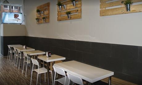 Menú para 2 personas con ración, hamburguesas, postre y bebidas en Rodri Pata & Grill (descuento del 45%) Oferta en Groupon