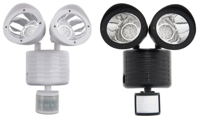 Solar-Powered 22-LED Motion Sensor Flood Light: Solar-Powered 22-