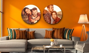 CanvasJet.com: Round Wrapped Canvas Prints with Wooden Frame (68% Off)