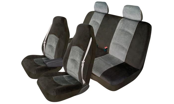 Heavy Duty Velour Car Seat Cover Set 5 Piece