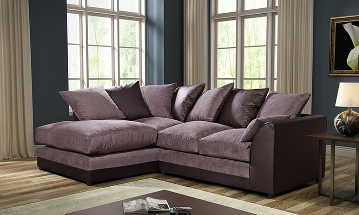 byron fabric corner sofa