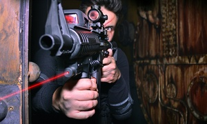Massacre Tactical Laser Tag: 90 Minutes of Laser Tag for Two, Four, Six, or Eight at Massacre Tactical Laser Tag (Up to 58% Off)