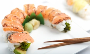 Mino Japanese Restaurant & Sushi Bar: Sushi and Japanese Cuisine at Mino Japanese Restaurant & Sushi Bar (Up to 47% Off). Two Options Available.