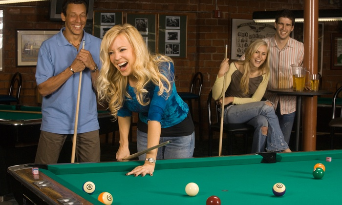 Amsterdam Billiards and Bar - Greenwich Village: $25 for One Hour of Pool or Ping-Pong for Two and Five Beers at Amsterdam Billiards and Bar ($51 Value)