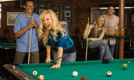 $25 for One Hour of Pool or Ping-Pong for Two and Five Beers at Amsterdam Billiards and Bar ($51 Value)