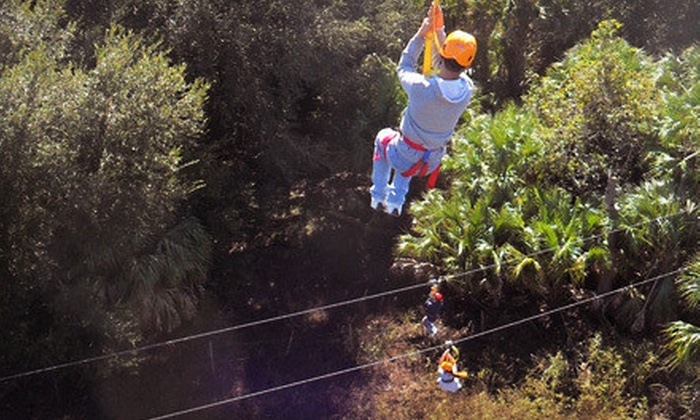 Zip Orlando - Osceola Corporate Center: Guided Zipline Tour for Two or Four on Monday–Thursday or Friday–Sunday at Zip Orlando (Up to 58% Off)