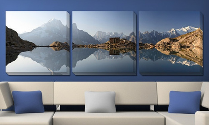 "Panoramic Gallery-Wrapped Triptych : $99 for a Gallery-Wrapped Triptych with Three 24""x24"" Canvases ($438 List Price). 10 Options Available. Free Shipping."