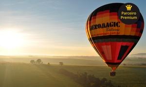 Aeromagic Balonismo: Voo de balão de instrução para 1 ou 2 pessoas + taça de champanhe e certificado com a Aeromagic Balonismo – Boituva