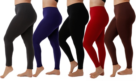 Women's Plus Size Slimming Leggings (5-Pack)